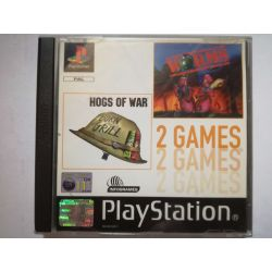 2 Games Worms, Hogs of War PSX