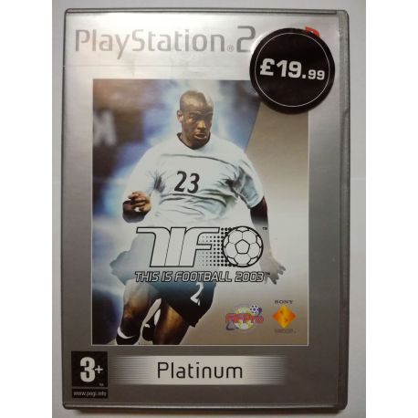 This is Football 2003 PS2
