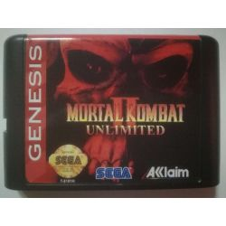 nel. Cartridge Mortal Kombat II Unlimited Sega Mega Drive