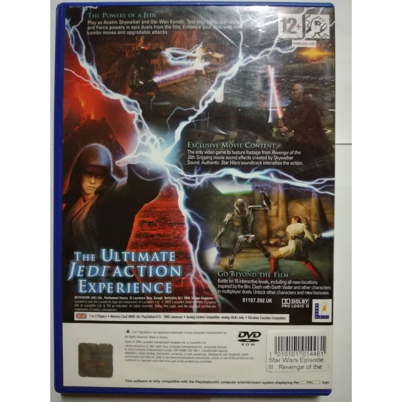 Star Wars Episode Iii Revenge Of The Sith Ps2 Hernibazar Cz